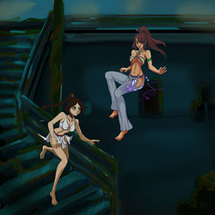 Undersea Girls Complete (Sol's House of Flapjacks) Tags: anime color art female digital photoshop paint ship underwater drawing avatar manga