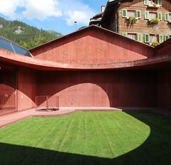 IMG_5772-73 (trevor.patt) Tags: red panorama architecture concrete switzerland ch graubunden olgiati scharans