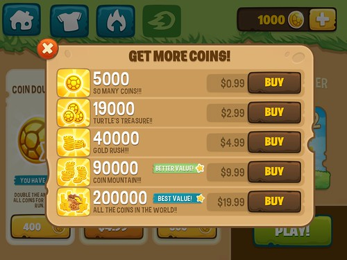 Run Sheldon Virtual currency Bank: screenshots, UI