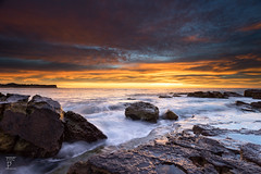 Rock Solid Rise (.njep) Tags: ocean seascape colour sunrise landscape sydney australia newsouthwales northernbeaches leefilter canonef1635mmf28liiusm warriewoodbeach sonya7 sonyilce7