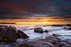 Rock Solid Rise (.njep) Tags: ocean seascape colour sunrise landscape sydney australia newsouthwales northernbeaches leefilter canonef1635mmf28liiusm warriewoodbeach sonya7 sonyilce7