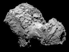 Comet 67P on 3 August - OSIRIS image (europeanspaceagency) Tags: comet rosetta 67p 67pchuryumov–gerasimenko rosettaarewethereyet