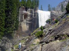 Vernal Fall Mist Trail in Yosemite (GMLSKIS) Tags: california waterfall nationalpark yosemite vernalfall misttrail
