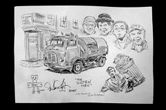 the dustbin men by broady 2014 (Broady - Salford art and photography) Tags: art illustration pencil sketch tv artwork drawing salford broady broadhurst dustbinmen thedustbinmenbybroady2014 thedudtbinmen