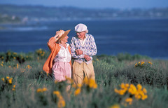 A Walk by the Sea (Robert Louis Clemens) Tags: sea path overlook stroll oldercouple manandwife walkbythesea goldenagers