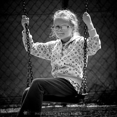easygoing (pajus79) Tags: light shadow portrait bw white black nature girl beauty smile look happy kid spring nikon funny lift little daughter seesaw swing dorotka flip ready moment dear playful dangling hang flap hold easygoing hapiness bobbing d80 55200456 swaing lesuire