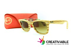 Ray-Ban Wayfarer – Special Series Light Wood / Flower Print