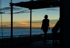 Atardece en Mazagn (Mathias Brea) Tags: sunset silhouette atardecer personas siluetas
