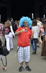 Cosplays at the 3rd day of Japan Expo 15eme/2014 , Paris, France: Jolly guy at the entrance (SpirosK photography) Tags: portrait paris france anime happy japanese cosplay manga entrance culture staff convention jolly parcdesexpositions costumeplay japanexpo