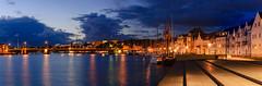 Abends am Hafen (tankredschmitt) Tags: panorama flickr wordpress hafen altstadt ostsee nachtaufnahme klappbrcke blauestunde sonderborg lichteffekte stimmungen