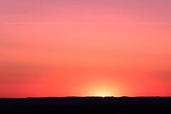 Dernire lueur (Marc venon) Tags: sunset red sun france yellow canon landscape
