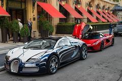 L'Or Blanc & LaFerrari. (JayRao) Tags: paris france nikon ferrari saudi hybrid bugatti dorchester veyron ksa jayr d610 plazaathenee grandsport hypercar orblanc laferrari saudicars