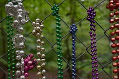 Mardi Gras Forever! (BKHagar *Kim*) Tags: metal fence beads mardigras hff riversong bkhagar