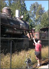 E-P5 on Monopod (NoJuan) Tags: railroad photographer gitzo monopod photographerwithcamera androidphotography htcevo4glte olympusimageshare