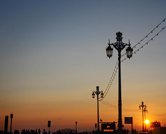 Sunset on Brighton Seafront (Cosmo2794) Tags: sunset sky silhouette lights brighton lamps