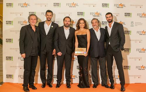 José Coronado, Stany Coppet, Aitor Gabilondo, Hiba Abouk, César Benitez y Rubén Cortada en el FesTVal 2014