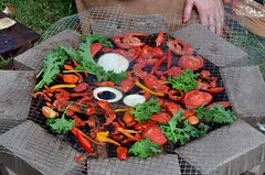 1860s Lifestyles Expo (Adventurer Dustin Holmes) Tags: food cooking events tomatoes event vegetarian 2014 campfirecooking outdoorcooking cookingvegetables 1860slifestylesexpo