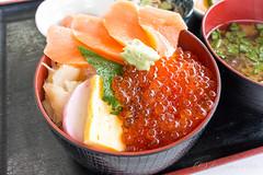 日本海  いくら・さけ丼 (GenJapan1986) Tags: travel food japan hokkaido 北海道 日本 旅行 2014 日本海 海鮮丼 石狩市 nikon1aw1