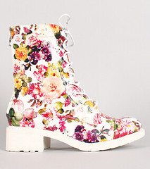 "leatherette-floral-print-lace-up-bootie-white • <a style=""font-size:0.8em;"" href=""http://www.flickr.com/photos/64360322@N06/15259365606/"" target=""_blank"">View on Flickr</a>"