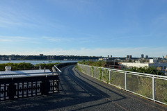 Rail Yard and the River (Eddie C3) Tags: newyorkcity manhattan hudsonriver railyard nycparks friendsofthehighline highlinepark