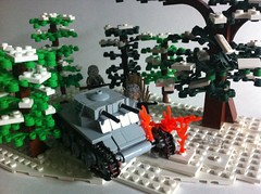 Attack at Dawn (tyfighter07) Tags: winter dawn lego wwii attack battle panzer bulge moc panzer1 brickbuilder7