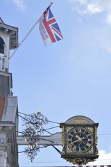 Flying the Flag (liritkiraly) Tags: clock flag clocktower guildford highstreet guildfordhighstreet armedforcesday2015