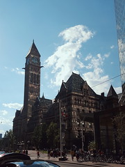 Dappled (giltay) Tags: toronto oldcityhall reflection sunlight afternoon street people