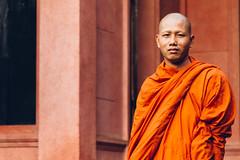 National Museum of Cambodia (soujo) Tags: cambodia nationalmuseumofcambodia phnompenh man monk museum orange person portrait robe travel vermilion