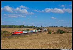 DB Cargo 189 020, Ovelgünne 18-09-2016 (Henk Zwoferink) Tags: ovelgünne sachsenanhalt duitsland de melnik mearsk db cargo dbc henk zwoferink siemens br189 es64f4 189 020