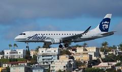 Skywest or Alaska? (MichaelLovesTrains) Tags: san diego international airport ksan planes boeing alaska airlines embraer e175 skywest