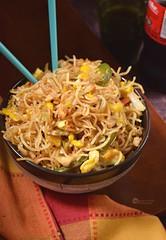Crispy Pan Fried Noodles (prasannahede) Tags: crispy panfried noodles eggs chicken