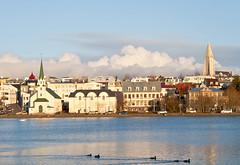 Reykjavík (geh2012) Tags: reykjavík ísland iceland hús house fríkirkjan hallgrímskirkja kirkja church tjörn pond gunnareiríkur geh gunnareiríkurhauksson reykjavíkurtjörn