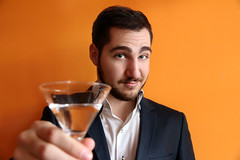 Mattia (susanna.muratori) Tags: man drink orange alcool italy italian eyes blue blueyes classic elegant smile portrait white model