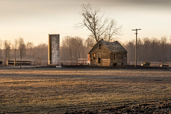 worn out (Christian Collins) Tags: barn house shell midmichigan michigan field hay sunrise canoneos5dmarkiv rotten falling broken