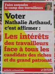 Les intérêts des travailleurs (emmanuelsaussieraffiches) Tags: affiche politique political poster lutteouvrière