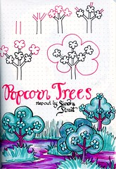 Popcorn Trees Tangle (molossus, who says Life Imitates Doodles) Tags: zentangle tanglepatterns patternstepouts