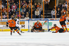 "Missouri Mavericks vs. Wichita Thunder, March 25, 2017, Silverstein Eye Centers Arena, Independence, Missouri.  Photo: © John Howe / Howe Creative Photography, all rights reserved 2017. • <a style=""font-size:0.8em;"" href=""http://www.flickr.com/photos/134016632@N02/33571550651/"" target=""_blank"">View on Flickr</a>"
