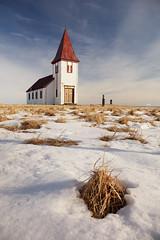 Hellnar Church, Snaefellsnes Peninsula, Western Iceland (MelvinNicholsonPhotography) Tags: hellnar hellnarchurch church iceland snaefellsnespeninsula snow ice winter blueskies