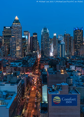 48th Street (20170324-DSC09150-Edit) (Michael.Lee.Pics.NYC) Tags: newyork aerial hotelview ink48 presslounge rooftopbar hellskitchen midtownmanhattan oneworldwideplaza timsesquare rooftopsarchitecture cityscape 48thstreet night twilight bluehour sony a7rm2 fe2470mmf28gm