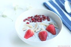 Chia seed pudding recipe with napkin and spoon by little luxury list (little luxury list) Tags: dessert food recipe recipes healthyfood healthyliving healthy chiaseed