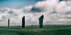 Standing in Time (wawrus) Tags: stones stenness orkney scotland uk island clouds shadow neolithic historic zeiss zf2 planart1450 nikon d800e mood outside