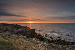Portland Sunrise (Chris Sweet Photography) Tags: sunrise portlandbill dorset seascape coast coastal ocean goldenhour rocks sea uk nikon