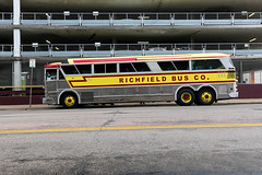 Richfield Bus Co. (Urban Camper.) Tags: street old bus minnesota yellow vintage steel parking wheels streetphotography minneapolis company transit co stainless urbanphotography richfield richfieldbusco