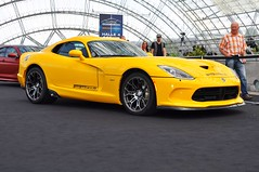yellow Dodge Viper SRT (Transaxle (alias Toprope)) Tags: auto show cars beautiful beauty car nikon power mobil fair voiture exhibition leipzig motors international ami coche soul carros carro motor autos messe powerful macchina carshow coches v10 motorshow voitures toprope 2014 macchine d90 v10engined