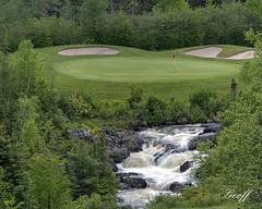 Terra Nova, Hole #18 (gwhiteway) Tags: travel sky canada green tourism nova clouds newfoundland golf hole resort course golfing greens nl 18 terra