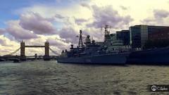 HMS Belfast und Tower Bridge (ChristianLindner) Tags: bridge england london tower belfast krieg christian brücke schiff themse hms lindner grosbritannien