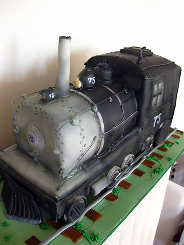 Realistic Train Engine Cake
