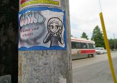 Bounce (Georgie_grrl) Tags: cloud toronto ontario cute sticker ttc ears whiskers streetcar bounce dundasstreetwest likeabunny canonpowershotelph330hs mynewdarkpinkside