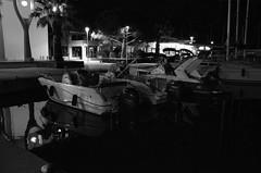 Le Grand Sommeil (Jean-Luc Lopoldi) Tags: bw night port boats noiretblanc harbour sleep bateaux ctedazur nuit sud streetlighting mditerrane clairagepublic