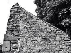 Half roof (the tomographer) Tags: roof church wall wand ruin kirche ruine dach sandstein kapelle eppingen ottilienberg